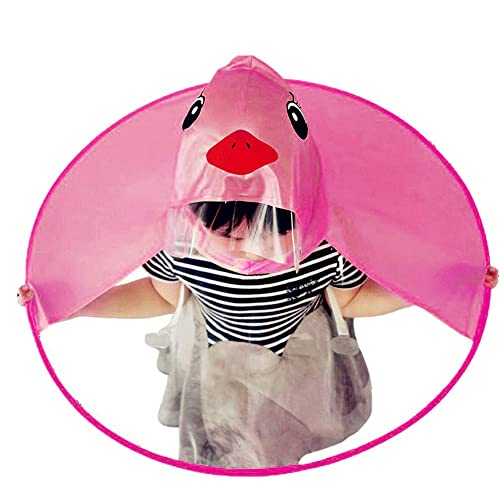 551b3982c6cf3 Birdfly Unisex Kids Cartoon Duck Movement Umbrella Hat Magical Raincoat and Rain  Boot for Toddler Baby