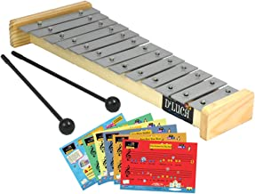 D'Luca TL-13-2 13 Notes Children Xylophone Glockenspiels with Music Cards