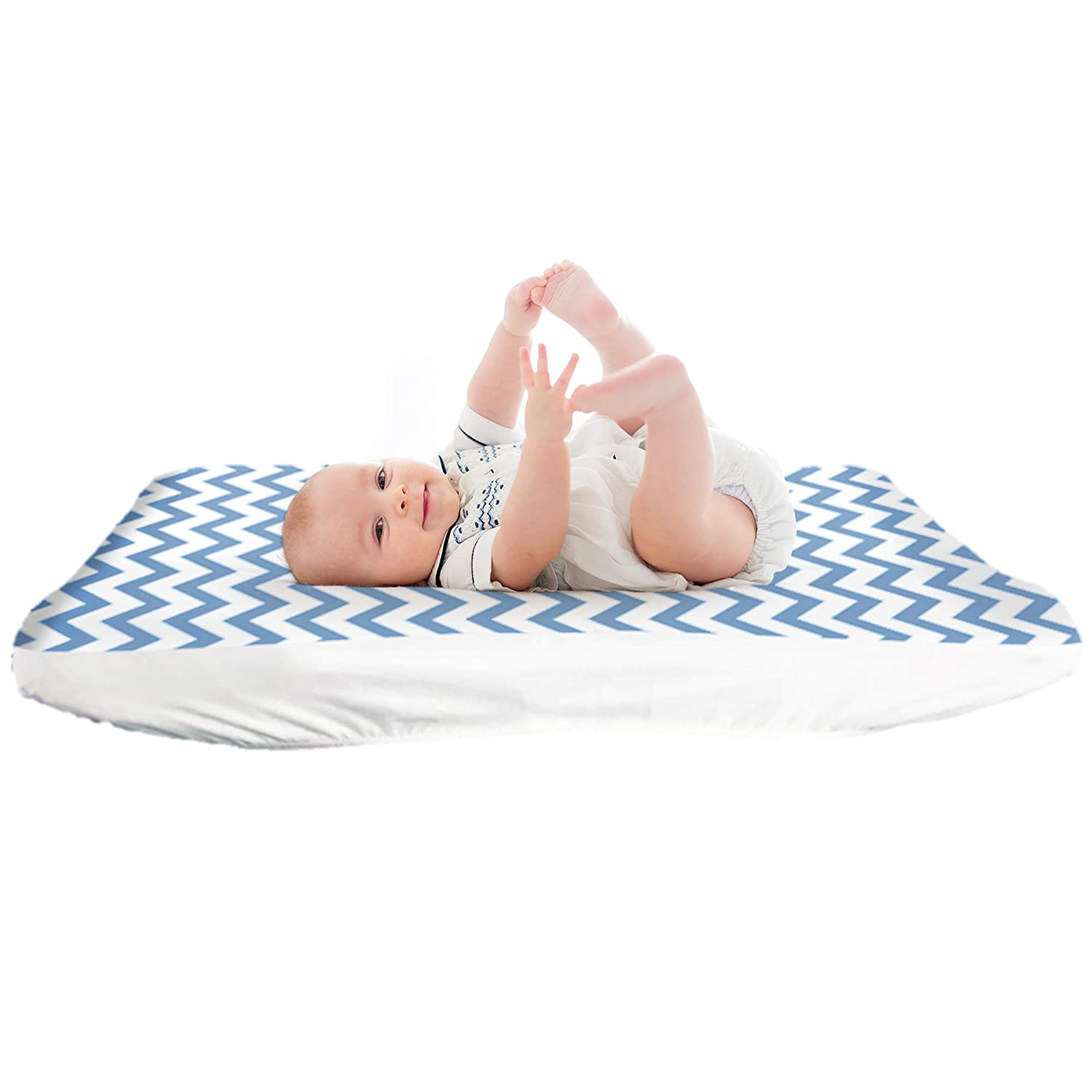 Lessy National products sale Messy Leak-Proof Diaper Changing Cover Pad Chevron Print
