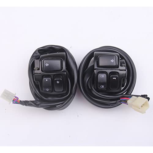 new 2pcs handlebar control switches+wiring harness for harley softail, dyna,  sportster,