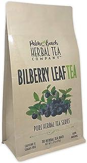 Bilberry Leaf Tea - Pure Herbal Tea Series by Palm Beach Herbal Tea Company (30 Tea Bags) 100% Natural
