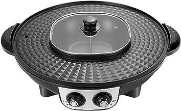 Draagbare elektrische kookmachine voor thuisgebrui 2 in 1 grote capaciteit Indoor Multifunctioneel BBQ hot Pot Double Pot,...