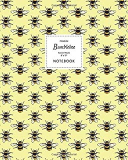Bumblebee Notebook - Ruled Pages - 8x10 - Premium: (Yellow Edition) Fun notebook 192 ruled/lined pages (8x10 inches / 20.3...