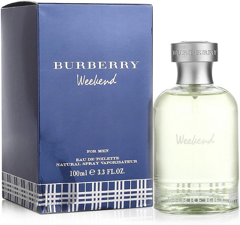 Burberry burberrys  week-end, eau de toilette, profumo per uomo, 100 ml 5045252667576