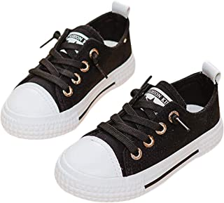 DEBAIJIA Niñas Niños Zapatos 3-10 Años Zapatillas de Deporte Lona Dulce Casual Suela Suave Doble Moda Antideslizantes Tran...