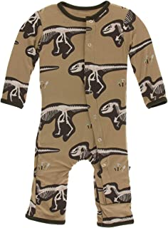Kickee Pants Baby Boys' Print Coverall - Brown - 12-18 Months