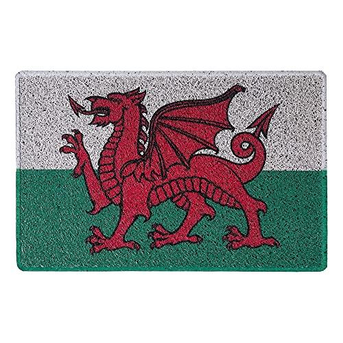 Nicoman Fußmatte, Motiv: Wales-Flagge, Spaghetti-Fußmatte, 60 x 40 cm