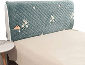 Bed Head CoverStretch Bed Head Protector Cover Washable Removable Solid Color Protective Cover Decor for Bedroom (Color : ...