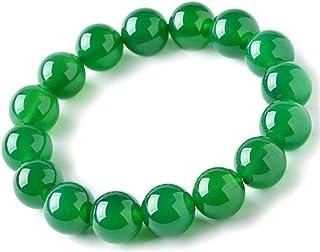 緑メノウ 緑瑪瑙 ブレスレット 緑 アゲート グリーンアゲート 天然石 魔除け 厄除け お守り 数珠 瑪瑙 パワーストーン