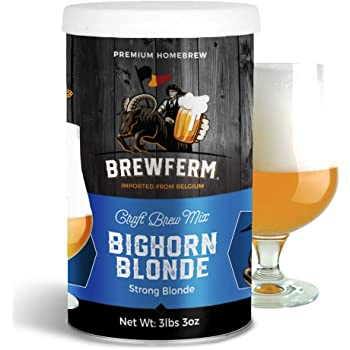 Brewferm Bighorn Blond (Strong Blond) Belgian Homebrew Craft Beer Mix - makes 9 liters or 2.5 gallons of beer