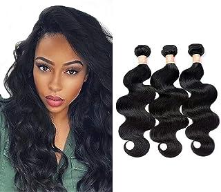 7A Grade Brazilian Virgin Hair Body Wave 3 Bundles Unprocessed Human Hair Weave 300g/lot Natural Black Hair Extensions (12...
