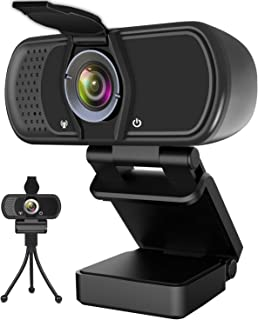 Hrayzan Webcam 1080P,HD Webcam with Microphone,PC Laptop Desktop USB Webcams with 110 Degree Wide Angle,Computer Web Camer...