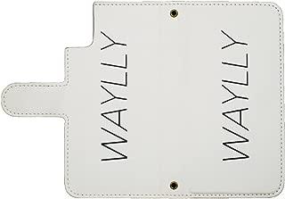 【廃番品】ウェイリー専用ミラー付き手帳型ケース iPhoneX/XS WHITE【旧WAYLLY】