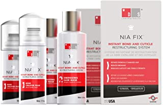 Nia Fix Instant Bond & Cuticle Restructuring Hair Repair System - Repairs Damaged Hair (Chemical & Color), Reduces Breakage - 2 Pack