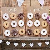 Ginger Ray Donut Wall - Cake Alternative Donutwand Aufsteller'Rustic Country' (2 Stück) Hochzeit Candy Bar Tortendeko