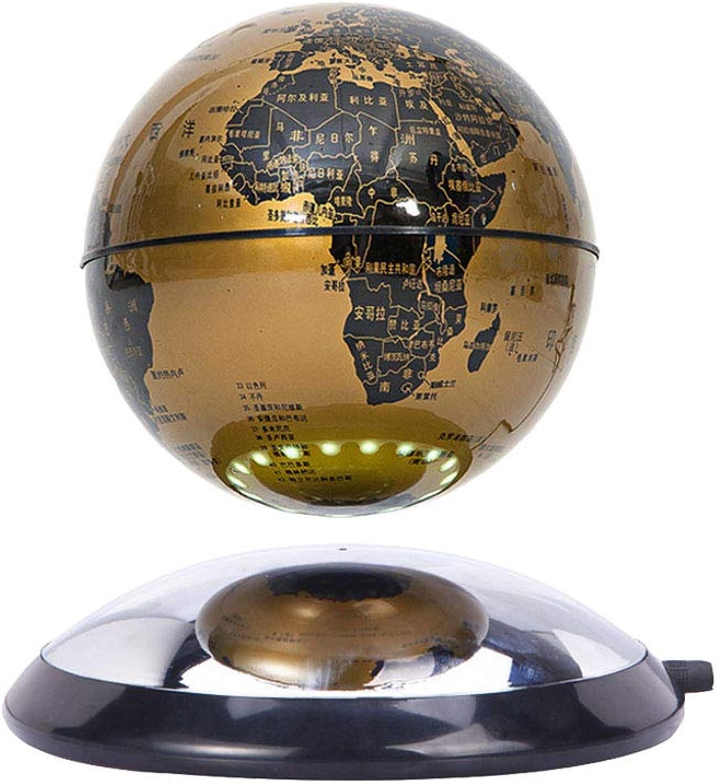 Goldgelb Goldgelb Goldgelb 6 drehend schwebend Magnetische Schwebekugel Weltkarte für Lehre & Bildung B07PJCZ2B4 | Meistverkaufte weltweit  25e834