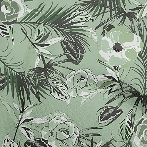 oneOone Cotton Poplin Light Green Fabric Florals Sewing Craft Projects Fabric Prints by Yard 42 Inch Wide-D4