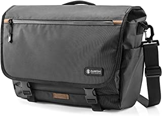 tomtoc Shoulder Bag, Messenger Bag Waterproof Travel Bag for 15.6 Inch Laptop, Multi-Functional with RFID Pocket, Fits 15 Inch MacBook Pro, Dell XPS 15 Inch, Surface Book 2, Ultrabooks, Chromebooks