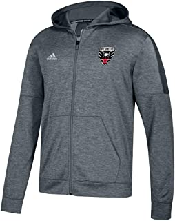 D.C. United MLS Men's Grey Primary Logo Climawarm Team Issue Full Zip Hoodie