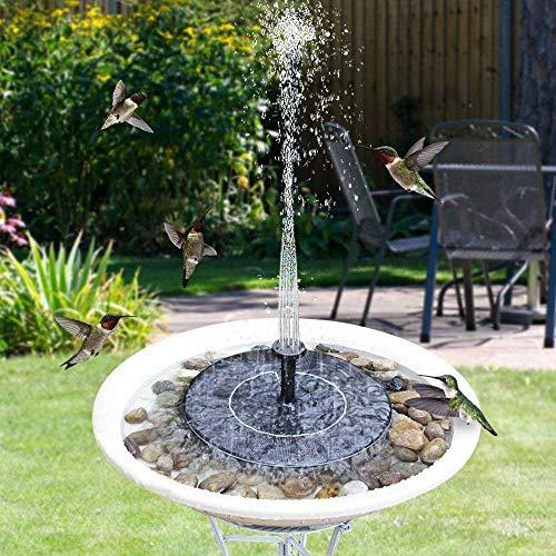 JunziWing Fontaine Solaire suspendue de Piscine extérieure Pour la décoration de Jardin étang de Piscine panneau Solaire extérieur Fontaine Solaire étang de Piscine étang