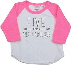Bump and Beyond Designs Girl Fifth Birthday Outfit, Fifth Birthday Shirt, Five Year Old Outfit