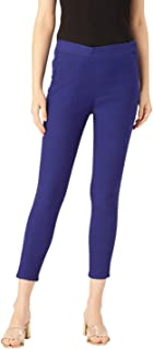 Rangmayee Stretchable Cotton Blend Trouser Pants for Women (Blue)