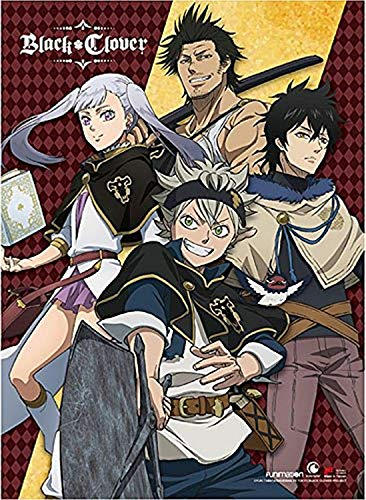 Black Clover Wall Scroll, Poster, One Size, Multicolor