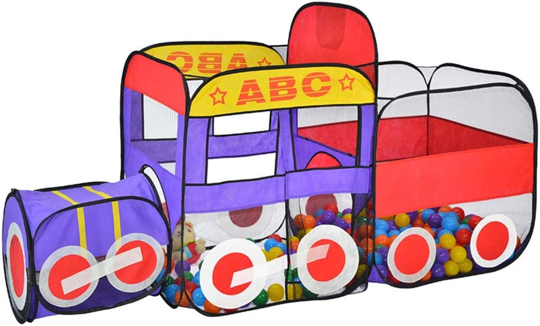 Spielzelt Spielzelttunnel-Babyspielhaus-Innenvergnügungspark der Kinder Einfaches faltendes Kriechen (Farbe   Blau, Größe   76  200  125cm)