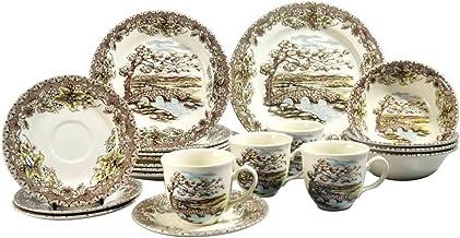 CLAYTAN DINNER SET VANTAGE VALLEY FULL, Porcelain, 20 PCS, Malaysian - 1512FS20