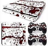 Mcbazel Vinyl Sticker Protect para consola y controlador, etiqueta de piel para PS4 Slim Blood