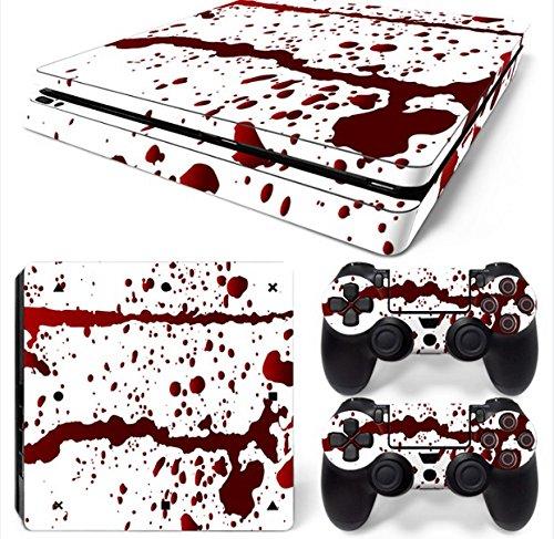 Mcbazel Calcomanías de la serie Pattern pegatinas de vinilo para PS4 Slim(sangre)