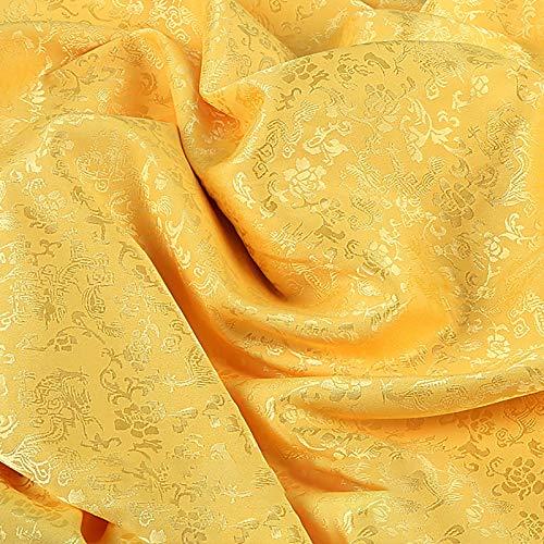 MUYUNXI Tela De Raso Forro De Tela para Vestidos De Novias Fundas Artesanas Vestidos Blusas Ropa Interior 120 Cm De Ancho Vendido por 2 Metro(Color:Luz de Oro)