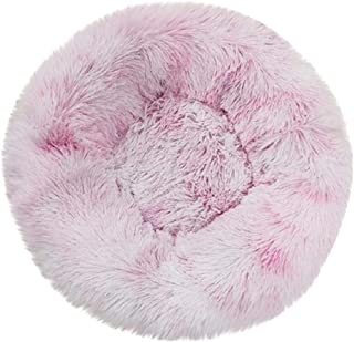 Boddenly Pet Dog Bed, Dog Beds for Medium Small Dogs Round, Cat Cushion Bed, Pet Beds Cozy Fur Donut Cuddler Improved Sleep, Washable, Faux Fur Donut Cuddler, Self Warming Cat & Dog Bed