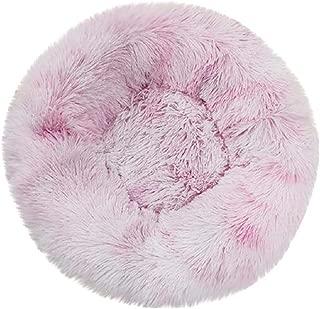 Boddenly Pet Dog Bed, Dog Beds for Medium Small Dogs Round, Cat Cushion Bed, Pet Beds Cozy Fur Donut Cuddler Improved Sleep, Washable, Faux Fur Donut Cuddler, Self Warming Cat & Dog Bed