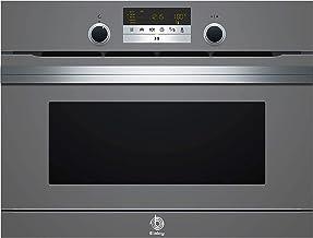 Balay, 3CH5656A0, Serie Cristal Horno compacto con microondas y vapor, 455 x 594 x 545 mm, 1000 W, Gris antracita, Control Comfort, Función AutoChef con 30 recetas