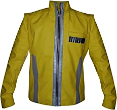 CHICAGO-FASHIONS New Hope of Star Fight Luke Mark Hamill Wars Yellow Faux Leather Jacket