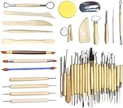 Conjunto de 42 peças de ferramentas de escultura de argila para modelar a cerâmica, conjunto de ferramentas para esculpir,...