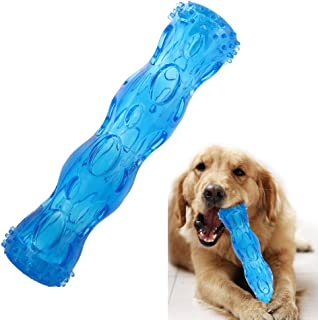 CEESC Dog Chew Toy Bone Tooth Cleaning and Puzzle Game for Puppy, 3 Sizes and 3 Colors Options