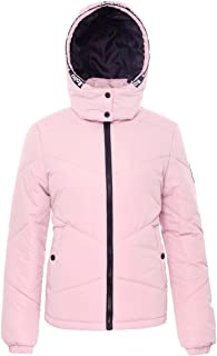 Women's Water-Resistant Hooded Thickened Insulated Quilted Puffer Coat Heavy Padded Winter Parka Anorak Jacket