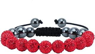 red disco ball bracelet