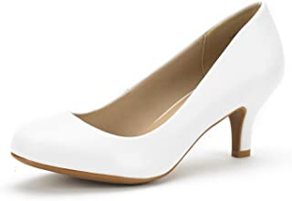 Luvly Women's Bridal Wedding Party Low Heel Pump Shoes
