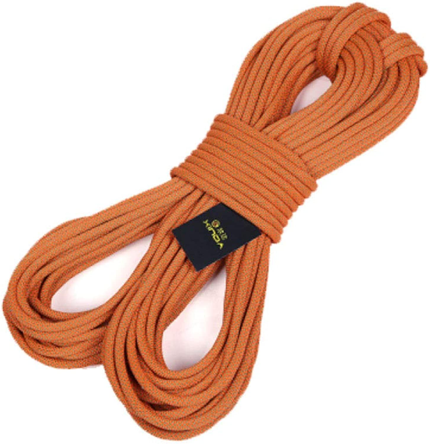 10MM Outdoor Mountaineering Adventure Camping Safety Rescue Rope,orange20m10mm