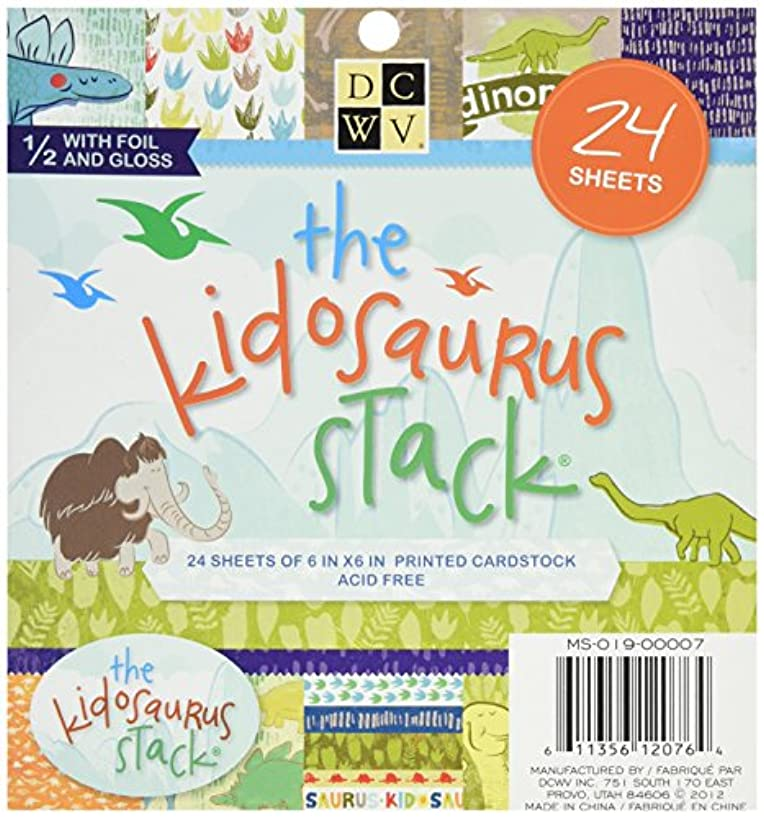 Die Cuts With A View Stack, 6-inches by 6-inches, Kidosaurus