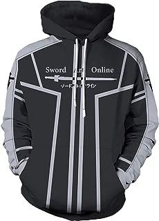SAO Sword Art Online Kirigaya Kazuto Pullover Hoodie Kirito Sweatshirt Jacket Unisex