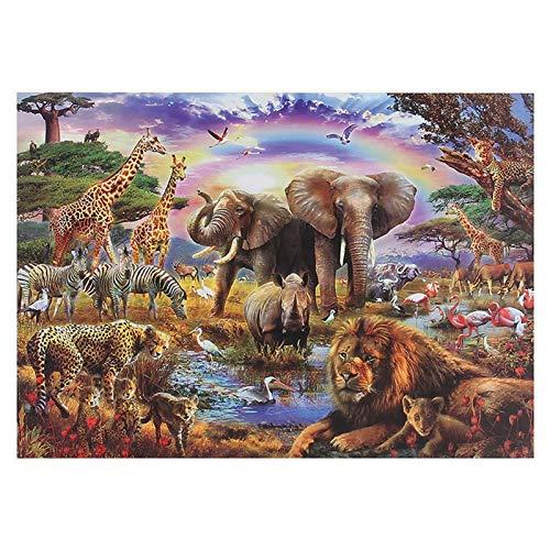 AKlamater Puzzle für Erwachsene 1000 Teile Waldtiere Welt Dickes Papier Puzzle