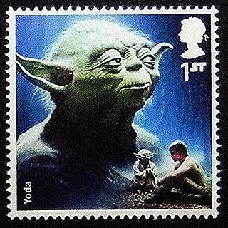 Yoda Star Wars UK -Handmade Framed Postage Stamp Art 0250AM