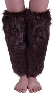Nanxson Women's Girl Acrylic Long Leg Warmer with Fur Classic Solid Color Design TTW0034