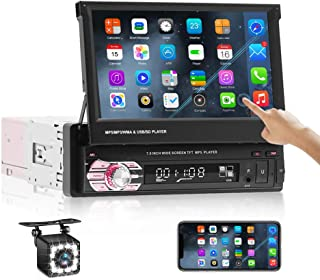 $119 » Car Stereo Single Din Touch Screen,in-Dash Head Unit 7 Inch Car Radio with Bluetooth, Android/iOS Mirror Link,FM/SD/USB/AU...