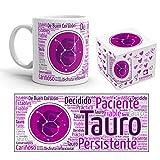 Kembilove Taza de Desayuno Horóscopo Tauro – Taza de café de Signo del Zodiaco Tauro – Tazas de Café y Té Horóscopo – Regalo Original para Parejas, Cumpleaños, Amigos