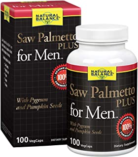 Natural Balance Saw Palmetto Plus for Men's Prostate Health | Urinary Frequency & Flow Support w/ Pygeum & Pumpkin Seeds |...